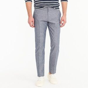 J. Crew Ludlow Classic chambray suit pant 36